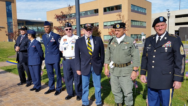 Veterans of different ages and branches of the military attended the ceremony.