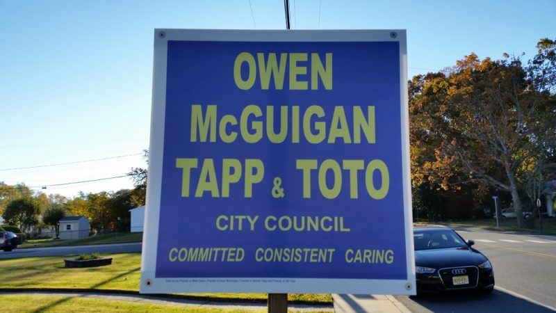 Michael Owen, Sean McGuigan, Dennis Tapp and James Toto are the Republican candidates.